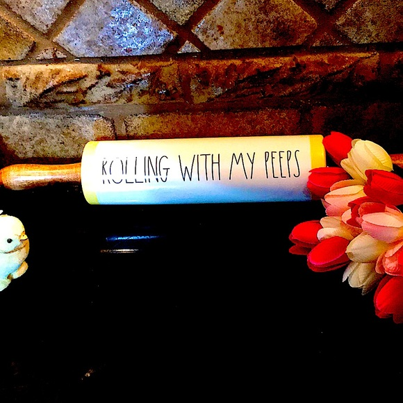 Rae Dunn Rolling With My Peeps Rolling Pin! 🌺🌺🌺